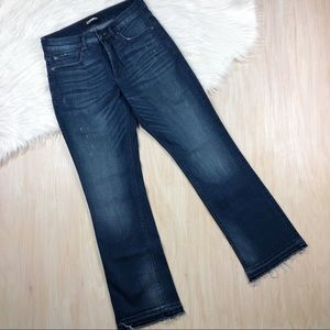 Express Blue Barely Boot Mid Rise Denim Jeans